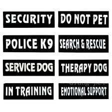 Reflective Dog Service Harness Patches Extra Label Tag SERVICE DOG POLICE K9