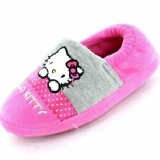 Girls Hello Kitty Slippers Pink Sizes 6-12 Persian