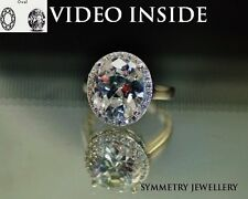 5 Carat* Engagement Ring Wedding Ring Platinum F.925 Silver Made in Italy