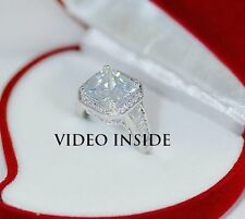 Luxe *3.+CT Princess Engagement Ring Diamond Ring Platinum 22KT Made in Italy