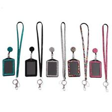 Rhinestone Bling Bling Crystal Lanyard Cell Phone + Vertical ID Badge Holder L