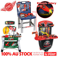 Tool Work Bench /  Box / with Battery Operated Drill Set kids Pretend Play Toy