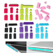 9X Silicone Anti Dust Plug Ports Cover Set Stopper for Laptop Macbook Pro 13 15