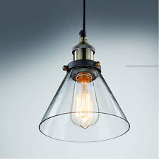 Industrial Outdoor Chandelier Pendant Loft Ceiling Light Edison Glass Lampshade