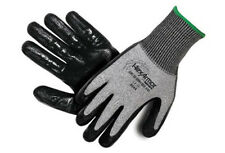 HexArmor 9010 Black and Gray SuperFabric Level 5 Cut Resistant Gloves- Large