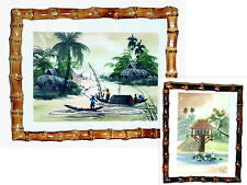"""Bamboo Root 11"""" x 14"""" Picture/Photo/Poster Frame-Choice of Natural or Burnt Colo"""
