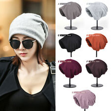 Solid Oversized Winter Unisex Knitted Turban Hat Slouch Baggy Beanie Skull Cap