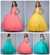 Wedding Evening dress Formal Flower Girls Dress Pageant  fluffy dress Paty-G