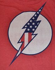 The Flash Adult T-Shirt  DC Comics Licensed AMERICA USA Graphic Logo Tee