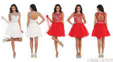 Formal Homecoming Short Party Dress Sexy Back Out Prom Tutu Dance Mini Cocktail