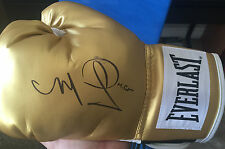 Miguel Cotto Signed Gold Everlast Boxing Glove with proof