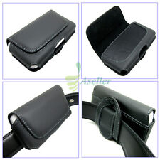 Compact Horizontal Leather Belt Clip Loop Holster Case Magnet Flip Pouch Cover