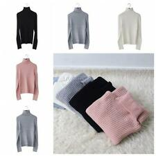 Women Turtleneck Long Knit Long Sleeve Pullover Outwear Tops Sweater 7 Color U65