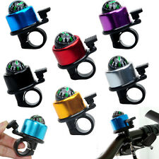 One Touch Bicycle Bike Cycle Handlebar Safety Metal Bell Ping Ring With Compass