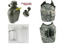 British Army Water Bottle + Cup + Pouch Genuine Military Army Canteen Sports New