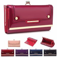 Ladies Designer Patent Ball Clasp Style Bar Purse Boxed Wallet Clutch 0444-160