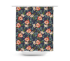 Hawaiian Dark Flowers Shower Curtain - Unique in 4 sizes for any Bathroom