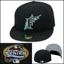 *New Era Florida Marlins Fitted Hat Cap 2003 World Series Side Patch MLB 59fifty