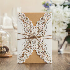 Royal Floral Wedding Invitations Cards With Envelopes, Seals, Personalized Print
