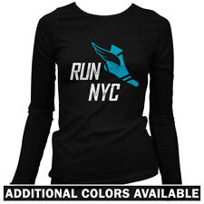 Run New York V3 Women's Long Sleeve T-shirt LS - Running NYC Marathon Fit S-2X