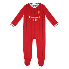 Liverpool Football Club Official Soccer Gift Home Kit Baby Sleepsuit Red