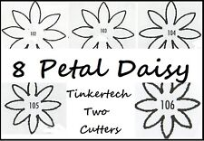 Tinkertech Two 8 PETAL DAISY Flower Metal Cutter Sugarcraft Cake Decorating