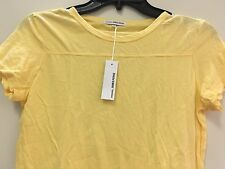 James Perse  s/s canary dark  yellow t-shirt  WMJ3123 syn new top women new