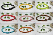 Wholesale Man-made Leather Braid Rope Hemp Cord For Necklace Lobster Clasp 46cm