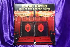 ISAAC HAYES live at the sahara tahoe 2 LP VG+ ENS-2-5005 Vinyl 1973 USA Soul