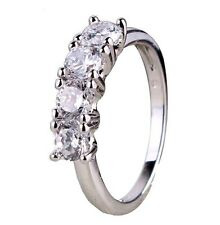 1.5ct Simulated Diamond White Gold Plated Engagement Ring FREE Shipping R074
