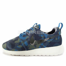 WMNS Nike Roshe One Print [599432-404] NSW Casual Camo Blue/Wolf Grey-Navy