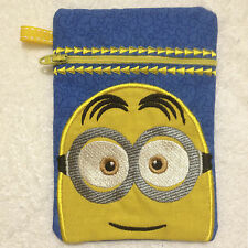 In-The-Hoop ZIP BAG * MINION 1 * Machine Embroidery Patterns * 5x7in hoop