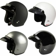 Viper RS-04 Plain Open Face Motorcycle Helmet Scooter Lid Black White Silver