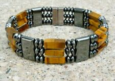 Men's Womens All Magnetic Tiger Eye Bracelet Anklet SUPER STRONG Clasp 3 row AAA