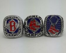 3Pcs Boston Red Sox 2004 2007 2013 World Series Championship rings size 11 Gift