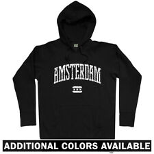 Amsterdam Hoodie - AMS Nederland Netherlands Cannabis Holland Dutch - Men S-3XL
