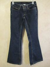 Juniors CALVIN KLEIN Size 4 Ultra Low Rise Flare/Boot Leg Denim Blue Jean Pants