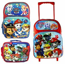 "Nickelodeon Paw Patrol 16"" Lunch Bag Large School Backpack Rolling Bag (1pc)"