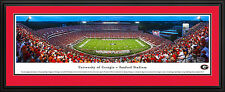 Georgia Bulldogs Sanford Stadium Panoramic Deluxe Framed Picture Photo NEW
