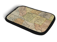 Vintage South West USA Map iPad Neoprene Zipper Case fits Apple iPad 2 3 4 Air 1