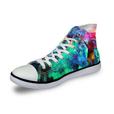 Cool Fashion Lady's Womens Lace-up High Top Shoes Sneakers Casual Canvas Shoes