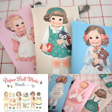 Afrocat Paper Doll Mate Pouch v.2 Multipurpose Purse Wallet Make Up Faux Leather