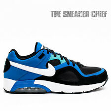 NIKE AIR MAX GO STRONG COMFORT RUNNING SHOES BLACK WHITE BLUE BLACK 418115 015