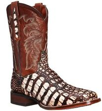 DAN POST Men's Leather Pecan Brown Everglades Caiman Western Boots DP3862 NIB