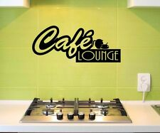 Wall tattoo Cafe Lounge Coffee Kitchen Decoration Sticker Picture Adhesive 5Q558