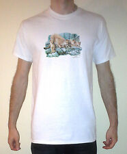 Mountain Lion Cougar Puma Graphic Short Sleeve Tee  Shirt Size S-XL
