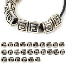 Silver Color Initial Capital Letter Alphabet A to Z Bead Europe Bracelet