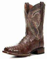 DAN POST Brown Leather Alamosa Full Quill Ostrich Western Boots DP3875 NIB