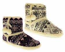 Womens De Fonseca Knitted Slipper Boots Ladies Warm Lined Winter Boot Slippers