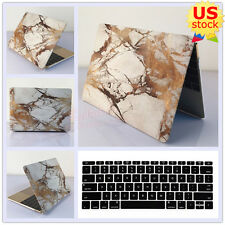 """2in1 White Marble Golden Lines Hard Case Cover  For MacBook Pro 13"""" Air 11""""/13"""""""